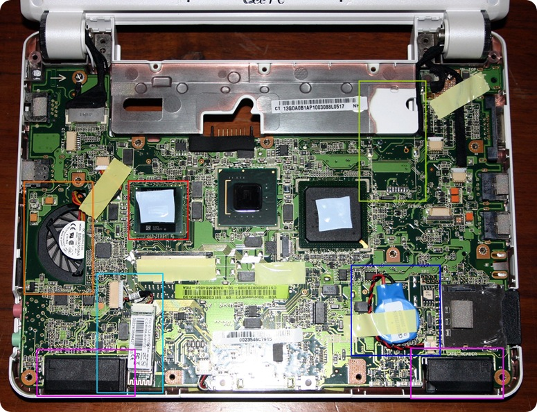 18 - MotherBoard front Asus eee pc 901 color